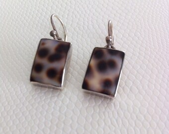 Sterling Silver and Shell Earrings
