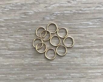 14k Gold Filled Ear Wires, Gold Earring, Gold Hoops, 9mm Hoops, 12mm Hoops