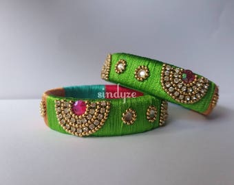 Colorful Silk Thread Bangles