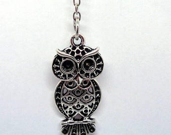 Handmade Gift Ideas Antique Silver Plated Owl Keyring
