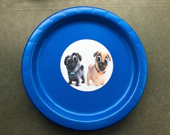 Puppy Dog Pals Friends Birthday Party 8.75 inch Paper Plates - Set of 64 : paper plate dog - pezcame.com