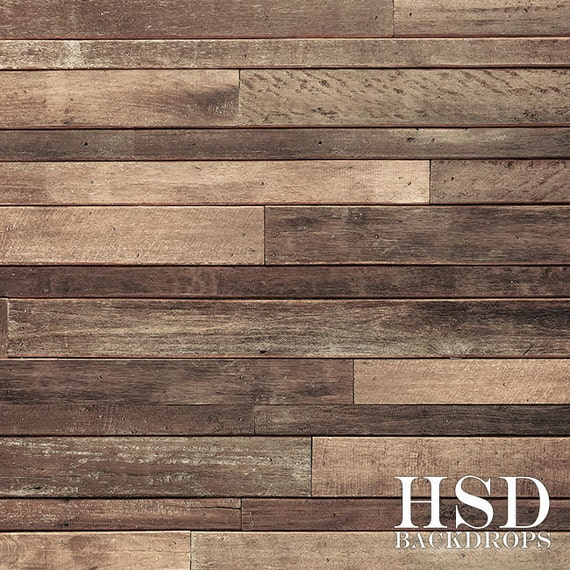Rustic Wood Photography Backdrop Vinyl Faux Wood Floor