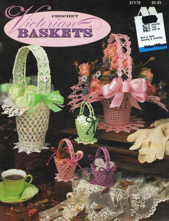 Patrón de cesta - de ganchillo Attic 87V70 de hilo Vintage Crochet ...