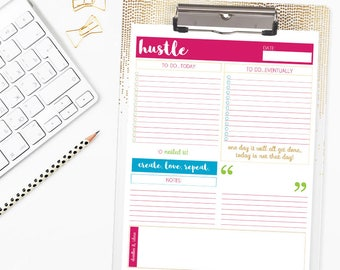 Daily Planner Printable - Hustle