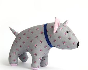 English Bull Terrier toy, Bull Terrier Decor, Bull Terrier Gift, Stuffed Bull terrier, Gift For Bull Terrier LoverTerrier Dog Lover Gift