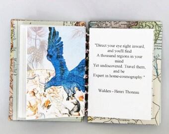 Writer's gift, Handmade book , coptic stitch book, book art, custom book , Artists gift , literary gift, pocket gif , book gift