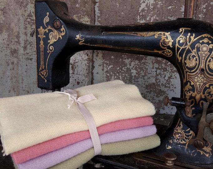 "Wool Bundle: 8"" x 26"" Pastel 4pc Sampler Bunny Hill Wool for Moda"
