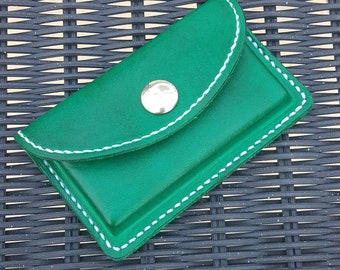 Business Card Holder Pouch - Hand Stitched - Classic