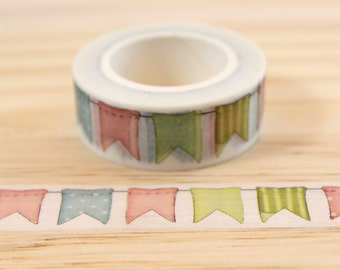 Flags, Washi tape masking tape, masking tape, decorative tape, scrapbooking