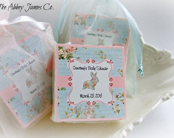 Shabby Chic baby shower favors, set of 10, soap favors, baby sprinkle favors