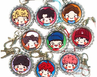 EXO Lucky One exo phone straps / charm / plugs / keychains / accessories / exo chibis