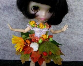 SALE! 5 days! Blythe dress, Blythe clothes, Blythe outfit, Blythe dress Flower Fairy,