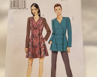 Vogue Jacket double breasted, dress, slacks pattern -   V9158 Size 6-14 new uncut 2015