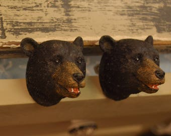 One Bear Drawer Knob. Bear Knob. Bear Drawer Pull. Dresser Knob. Furniture  Knob. Cabinet Knob. Cabin Decor. Cabin Decor. Bear Decor. Bear