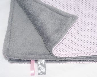 flannel and velour baby blanket
