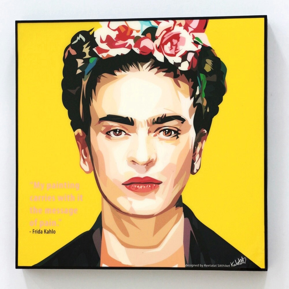 frida kahlo wall art decals quotes inspirational motivational. Black Bedroom Furniture Sets. Home Design Ideas