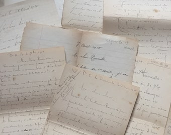 1910s Antique French Letters Vintage letters WW1 correspondence from French soldier