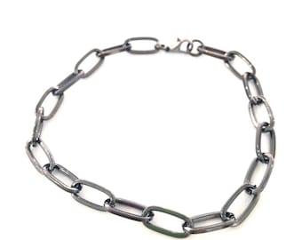 X 4 gun metal black metal chain bracelets