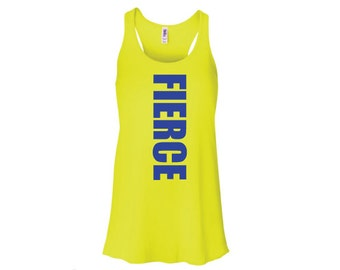 Fierce tank top, Motivational workout tank, Fierce Women's Fitness Tank Top,Inspirational Workout Tank, Workout tank top, tank top, flowy