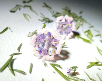 Fluorite Candy Beaded Earrings
