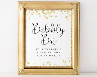 Bubbly Bar Sign, Mimosa Bar Sign, Wedding Sign, New Years Eve Decor, Bridal Shower Decor, Baby Shower Decor, Engagement Party Decor