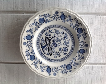Vintage Blue and white china indigo blue ironstone white dinner plates Kensington Staffords Coventry Blue China Display Plate replacements & Blue and white china | Etsy