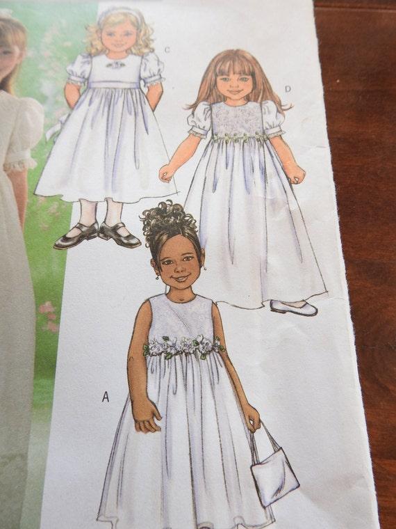 Butterick B4057 Blumenmädchen Kleid Schnittmuster