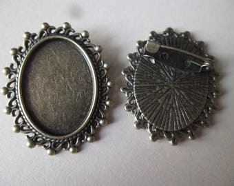 x 1 medium oval 3.5 x 3 cm cameo color bronze 2.4 x 1.8 cm