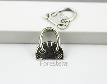 30Pcs 16x14mm Antique Silver Hand Bag Charm Pendant (PND128)