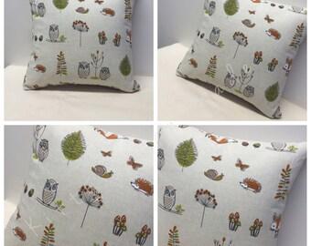 Woodland Cushion Cover, Fox, Owl, Cushion, Cushion Cover