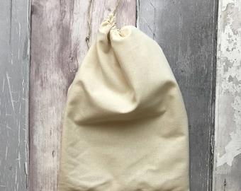 Unbleached Cotton Drawstring Bag - Natural