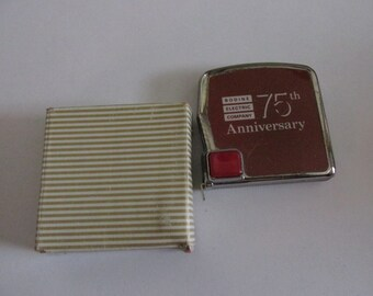 BODINE ELECTRIC 6ft Tape Measure vintage 1980s 75th Anniversary Advertising in orig presentation box Chicago IL memorabilia motors Bradley