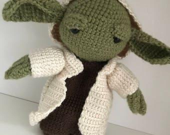 Yoda crochet doll, Star War doll, amigurumi