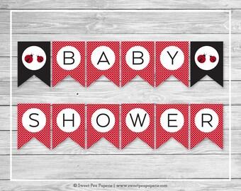 Ladybug Baby Shower Banner - Printable Baby Shower Banner - Ladybug Baby Shower - Baby Shower Banner - Ladybug Baby Shower Banner - SP140