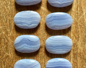 Polished Blue Lace Agate from Namibia