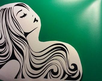 Hair Salon Decal / Hair Stylist/ Hair Studio Winow Decals/Hair salon Window Decal/Beauty Shop Decal/ Beauty Salon Decal