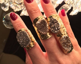 Druzy Rings, boho jewelry, Statement Rings, Druzy jewelry, boho wedding, Festival jewelry