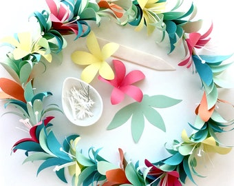 Flower Garland DIY Templates for Silhouette, Cricut Explore or Hand Cutting