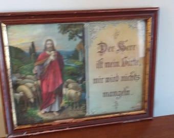 Vintage Religious Print. German