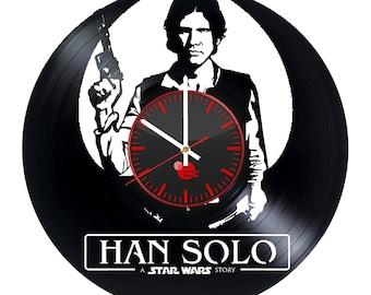 Star Wars Han Solo Vinyl Record Wall Clock