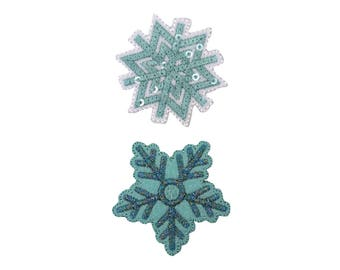 Snowflake Iron On Applique, Snowflake Iron on Patch, Christmas Patch, Winter Patch, Winter Applique, Kids Patch, Embroidered Patch