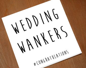 Funny Handmade Wedding Card - Adult Card - Marriage Greetings Card - Congratulations