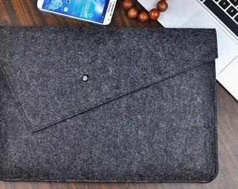 Felt laptop bag ,HP  Laptop Bag for 10/11/12/13 inch, HP Laptop Sleeve, Fashion bag,Felt laptop cover, gray messenger bag, 2D254