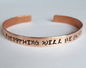 quote copper custom made turn personalized by u fpdesign hand memorial bangle bracelet crafted bangles