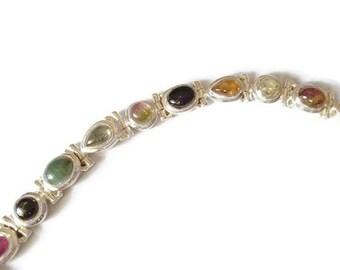 Tourmaline Sterling Silver Bracelet Many Colors