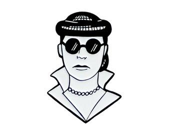 Edith Head enamel lapel pin