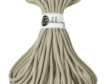 9mm Cotton Cord 22 yards (20 meters) - Coffee; giant macrame cord, chunky yarn, cotton rope, macrame string