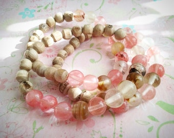 Tulasi Love - tulasi, tiger quartz bracelets