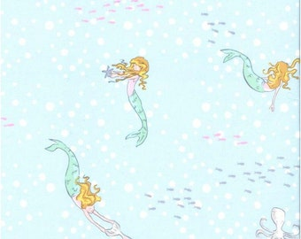 Fabric by the Yard - Best of Sarah Jane - Mermaid Play