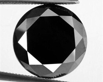 7.05Ct Natural Impressive Round Cut Z Black Moissanite Gemstone AU4226